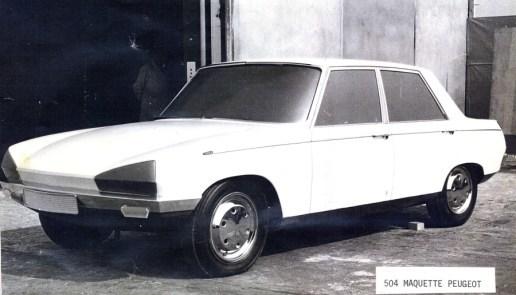 Etude Peugeot 504 par Peugeot