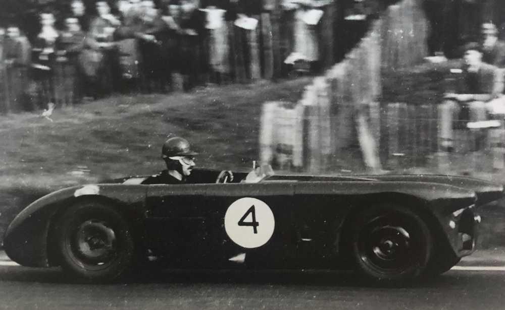 Archie Scott-Brown au volant de BHL 1 à Crystal Palace en 1954 lors du Anerley Trophy