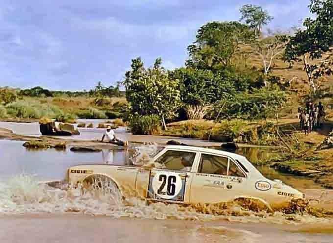 Peugeot 504 en rallye