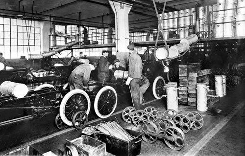 Production à la chaine Ford
