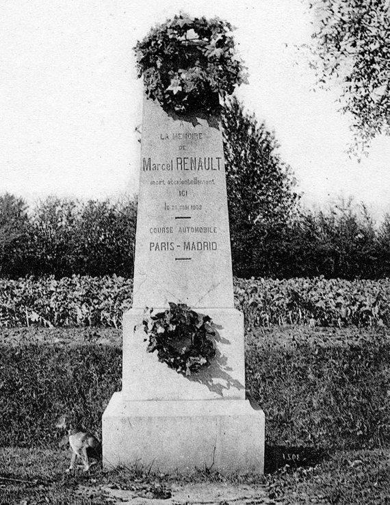 Stèle de Marcel Renault