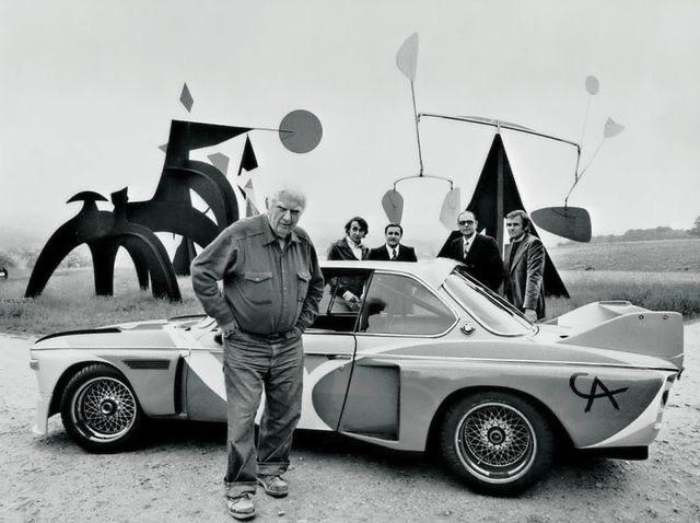 Calder et sa BMW