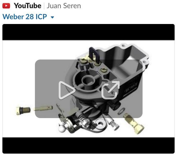 Vidéo carburateur