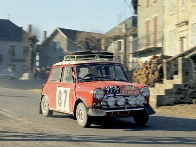 Austin Mini Cooper S au Rallye Monte Carlo