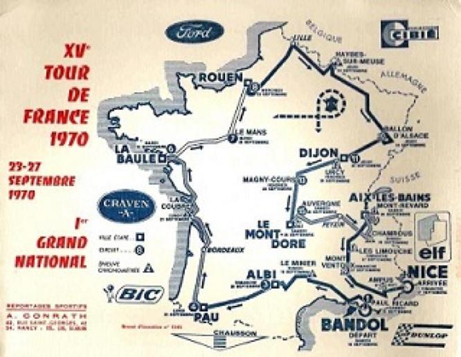Parcours édition 1970