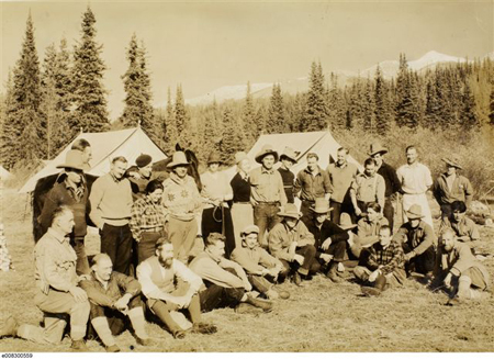 Les membres de l'expédition